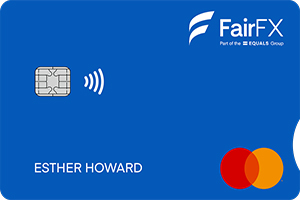 Fairfx Euro Travel Money Card