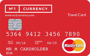 No 1 currency Prepaid Travel Money Card