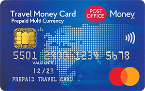 Post Office travel money card