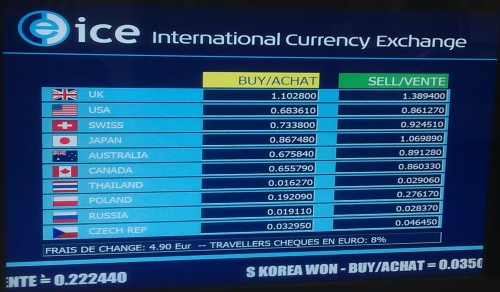 The Best Exchange Rates Offered By Ice On 3rd November In Basel Airport