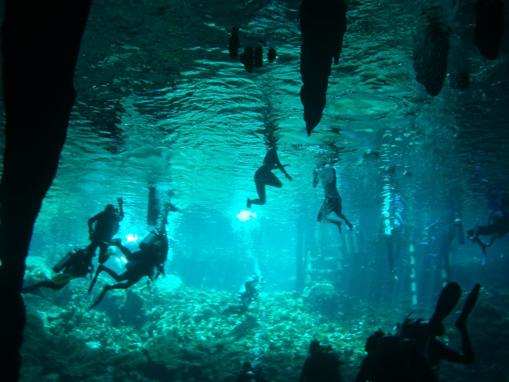 Snorkeling in Cancun Mexico Cave Snorkeling in Cancun