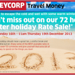 72 hour winter holiday Rate Sale