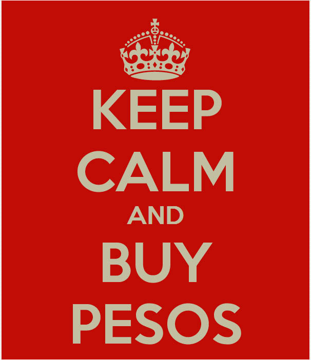 keep calm and buy pesos
