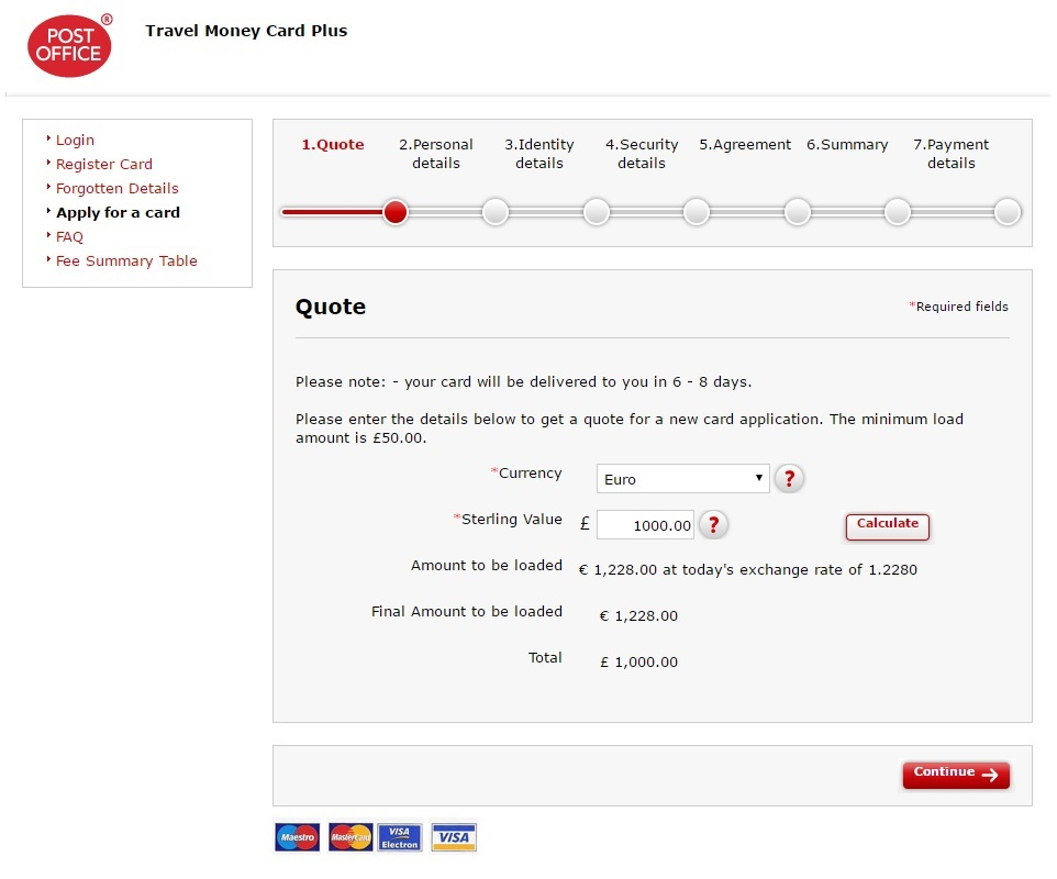 Post Office Travel Money Euro Card Exchange Rates Infographic - Post Office Travel Money Card Plus - Euro Exchange Rates