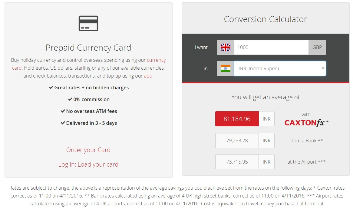 Indian Ru Prepaid Currency Cards Carton Fx Card Conversion Calculator