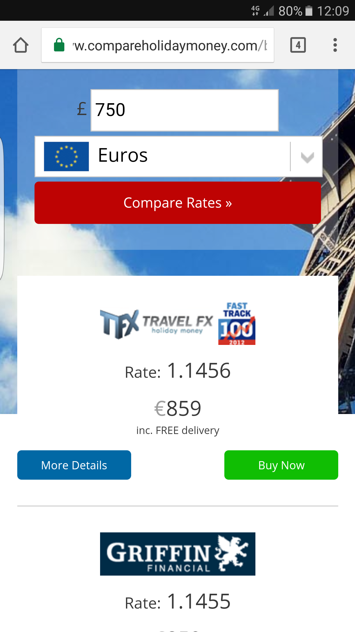 An Image Of The Best Exchange Rates For Euros