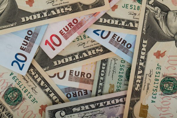 Euros and Dollars Currency