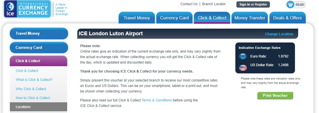 London Luton Airport Currency Exchange Rates Ice Plc Euro Rate
