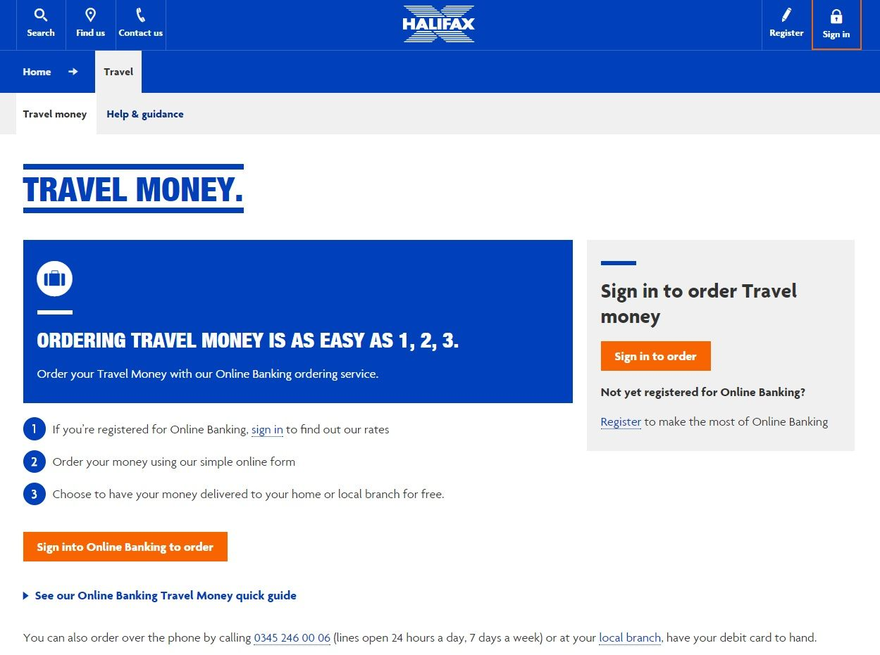 Halifax Travel Money Exchange Rates Ordering From The