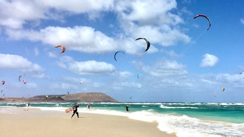 kitesurfing in Cape verde