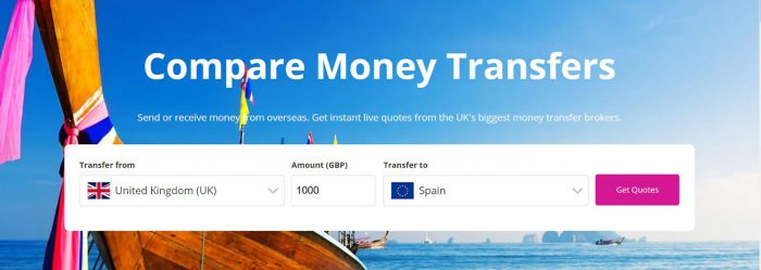 how to find the best deals for money transfers quote page image